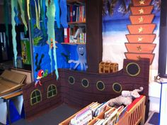 Loved the idea that a reading center is a pirate ship and students would like the idea to be on ship reading and seeing the room in  a different perspective. 0278