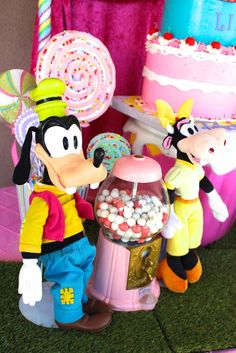Minnie Mouse Candyland birthday party decorations! See more party ideas at CatchMyParty.com!