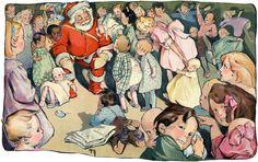 When We All Believe. Vintage Christmas art. $15. #vintage #christmas #santa