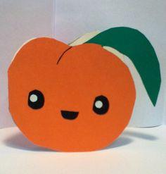 Handmade Kawaii Peach Card  Cardstock by justcreativecards on Etsy, $3.50