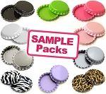 Sample Colors Bottle Cap Package | Bottle Cap Co | 2 Sided Color Bottle Cap Packages