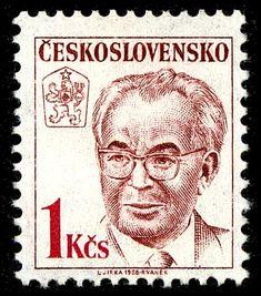 Gustav Husák (1913-1991), president Retro 2, Important People, Socialism, Czech Republic, Postage Stamps, Gallery, Seals, Historia, Prague