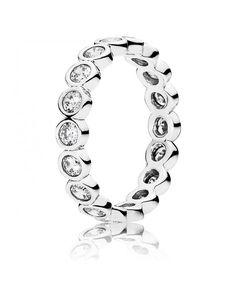 Pandora Ring Alluring Brilliant Silver Deals (0148OEJ)