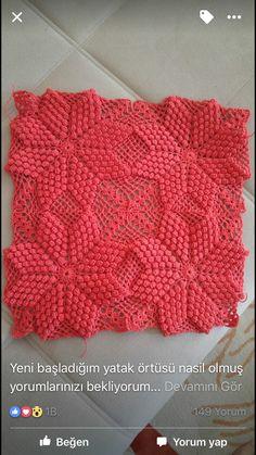 Ideas For Crochet Pillow Pattern Flower Afghans Crochet Pillow Cases, Baby Blanket Crochet, Crochet Baby, Knit Crochet, Free Crochet, Stitch Crochet, Crochet Motif, Crochet Stitches, Crochet Bedspread Pattern
