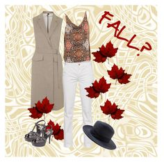 Jump in the fall by myenglishmood on Polyvore featuring moda, Topshop, 7 For All Mankind, Yves Saint Laurent and Banana Republic