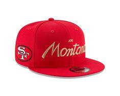 online retailer 03db5 b2031 Joe Montana San Francisco 49ers RETRO SCRIPT Player Snapback 9Fifty New Era  Hat