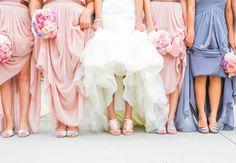 Bridal party // Carla Gates Photography // http://blog.theknot.com/2013/12/10/this-glittery-cake-shines-at-historic-atlanta-venue/