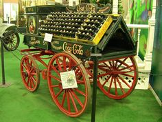 Coca-Cola 1890 | 1890's Coca Cola Delivery Wagon 2 Coca Cola Drink, Pepsi Cola, Wheelbarrow Decor, Coke Ad, Always Coca Cola, Vintage Coke, Antique Trucks, Soda Fountain, Refreshing Drinks