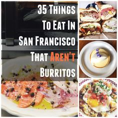 35 Delicious Things To Eat In San Francisco That Aren't Burritos - Many I've already experienced, but this is great for when friends visit Italian Fish Stew, San Francisco Travel, San Francisco Food, San Fransisco, Need A Vacation, Deep Dish, Burritos, Places To Eat, Sour Cream
