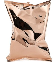 Crisp Packet 18ct rose-gold clutch, Anya Hindmarch