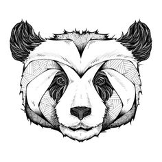 Cuddly and highly detailed, this panda head wall art sticker from artist Andreas Preis is a great addition to any room. Order this panda wall decal online now! Art And Illustration, Illustrations, Photo Panda, Panda Tattoos, Lapin Art, Panda Drawing, Panda Sketch, Panda Art, Panda Head