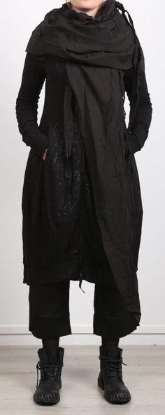 rundholz dip - Mantel Mantelkleid Sweater Jersey mit Reißverschluss black spot - Winter 2017