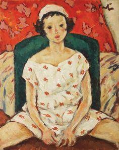 The Acrobat's Daughter - Nicolae Tonitza~1925,fleurdulys