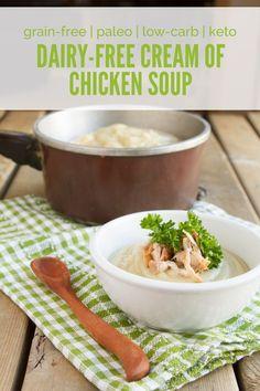Dairy-free Cream of Chicken Soup (substitute mushrooms to make veggie friendly)
