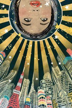 """mangooopopsicle:  JAPAN: BOOK ILLUSTRATION: YUKO SHIMIZU A collection of sci-fi themed book illustrations from New York based Japanese illustrator Yuko Shimizu. Yuko says, """"People probably don't associate my work with [the] sci-fi genre so much. What they don't know is that I was a HUGE sci-fi geek growing up.(yes!)"""" Discover more of Yuko's work on her website and find more of Mango Popsicle on Facebook."""