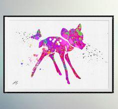 Bambi de l'art de l'aquarelle de Film de Disney. par LilytheLovely