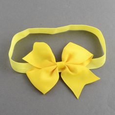 4pcs Bowknot Elastic Baby Headbands Girls Hair Bow Hair Accessories OHAR-R160-10