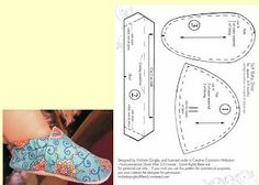 mold-how-to-shoe-to-d rink-with-felt-baby-shoe immagini per felted baby shoes pattern Doll Shoe Patterns, Baby Shoes Pattern, Baby Patterns, Sewing Patterns, Skirt Patterns, Coat Patterns, Blouse Patterns, Baby Sewing Projects, Sewing For Kids