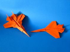 F-18 Hornet and PTF-15 folded with just one sheet of paper. Folds only. No glue or tape.