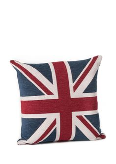 UNION JACK Red, White, and Blue Oversized Throw Pillow