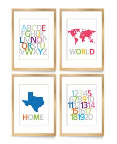Alphabet nursery art