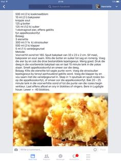 Lui Hertzoggies Kos, Biscuit Recipe, Biscuit Cookies, Baking Recipes, Cookie Recipes, South African Recipes, Weird Food, No Bake Treats, Sweet And Salty