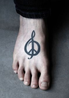 This is what I want!!!!! Music Peace Tattoo Design