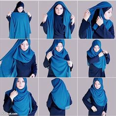 Find our latest new hijab styles 2020 step by step. Learn how to take hijab without a pin. You will be helped out in learning by making a tutorial series of taking hijab. See chest covering hijab style for girls and much more. Tutorial Hijab Modern, Square Hijab Tutorial, Hijab Style Tutorial, How To Wear Hijab, Ways To Wear A Scarf, How To Wear Scarves, Beau Hijab, New Hijab Style, Stylish Hijab