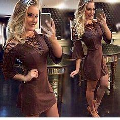 Vestido suede lindo. To apaixonada. 79.90 merrecas. Vem vem. Poucas unidades. 😨😨😨 Venha nos conhecer. Enviamos para todo lugar. Rs😁😁 Aceitamos cartão. Garantia de primeira troca sem custo.  #preço justo #saialonga #suede #retoke #retokebazar #blusailhos #blusa #blusailhoses #tricot #tricô #trico #vestidosuede #bohochic #invernocarioca #inverno2016 #friocarioca #frio #modafeminina #novidadesmoda #calcaflare #calcabandagem #calca #calcabandagemflare #highspirits  #highspiritsrj…