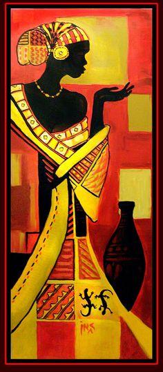 African Art gallery for African Culture artwork, abstract art, contemporary art daily, fine art, paintings for sale and modern art African Art Paintings, African Artwork, African American Art, African Women, Tableaux Vivants, Art Et Architecture, Afrique Art, African Quilts, Art Tribal