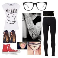 """""""Untitled #188"""" by trinity-taylor-1 ❤ liked on Polyvore featuring rag & bone/JEAN, Armani Exchange, Converse and Sonix"""