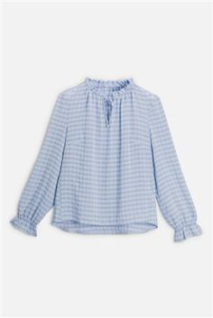 Buy Blue Pie Collar Blouse from the Next UK online shop Long Blouse, Short Sleeve Blouse, Short Sleeves, Printed Blouse, Printed Shirts, Latest Fashion For Women, Mens Fashion, Collar Blouse, Long Shorts