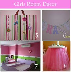 cute girls room decor, several DIY @ winkchic.infowinkchic.info