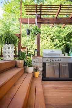 Amazing outdoor kitchen you want to see building diy outdoor Outdoor Sinks, Outdoor Kitchen Design, Outdoor Dining, Outdoor Spaces, Outdoor Decor, Outdoor Kitchens, Rustic Outdoor, Luxury Kitchens, Outdoor Life
