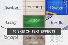 Sketch Text Effect by @Graphicsauthor