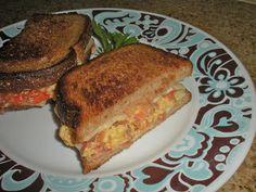 Chef JD's Breakfast Cuisine: Hickory Smoked Bacon Tomato & Swiss Egg Sandwich
