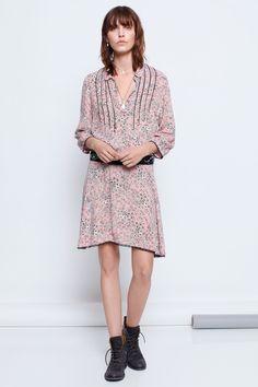 Zadig & Voltaire powder raspail print fleurs woman dress