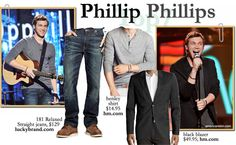 Phillip Phillips of #AmericanIdol Season 11 Top 7 redux fashion and clothing