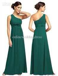 Green Dress with one shoulder!