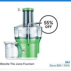 #breville #juicer in green model BJE200GNA on special at #myer #onsale 23/3-18/4/16 #mar16 #apr16 #betterthanhalfprice #healthydrink #freshjuice #makeyourown #inthekitchen #colourpop #giftideas #brevillejuicer #brevillejuicefountain @brevilleaus @myer #savvysaver