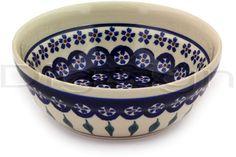 Polish Pottery 7-inch Bowl | Boleslawiec Stoneware | Polmedia H9532D