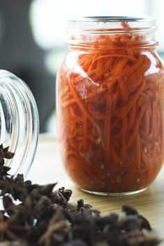 Sweet and Spicy Asian Style Pickled Carrots | Make Ahead Mondays. Simple pickled carrots that boost everything they touch!