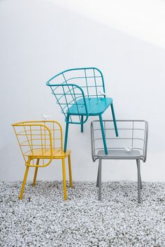Metal easy chair with armrests Jujube Collection by CHAIRS