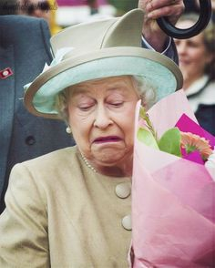 Queen Elizabeth II. ♚ What a face! love this photo!
