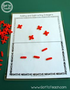 Adding and Subtracting Integers with Tile Spacers