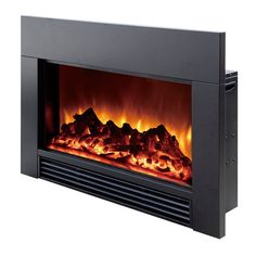Have to have it. Dynasty Electric Fireplace Insert to Fill Space from Wood Fireplace - $599 @hayneedle