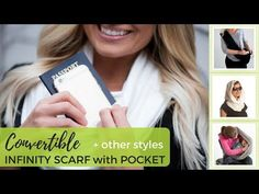 Travel with the Convertible Infinity Scarf with Pocket. Wear as a neck wrap, shrug, cross body, head scarf or fold into fashionable clutch purse. Designer Bridesmaid Dresses, Bridesmaid Dresses Online, Bridesmaid Dress Colors, All Fashion, Passion For Fashion, Fashion Clothes, Fashion Jewelry, Best Travel Gifts, Travel Wear