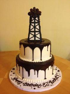 cute cake for an oilfield man
