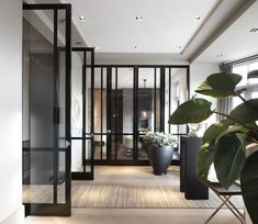 Room with Bod'or KTM doors - Design by Marcel Wolterinck - Residential - Doors: Le Cadre - Double Doors House Design, Interior And Exterior, Door Design, Hallway Decorating, Interior, Interior Architecture, Beautiful Home Gardens, Residential Doors, Residential Interior