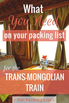 Rosanna took a ride on the epic Trans-Mongolian train and now shares her packing tips for the ladies in this guest post. Let's just say:  layers are key!